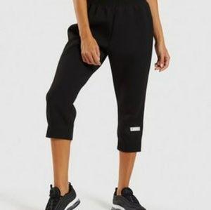 Gymshark Other - Gymshark Ruched Cropped Black Jogger Pants